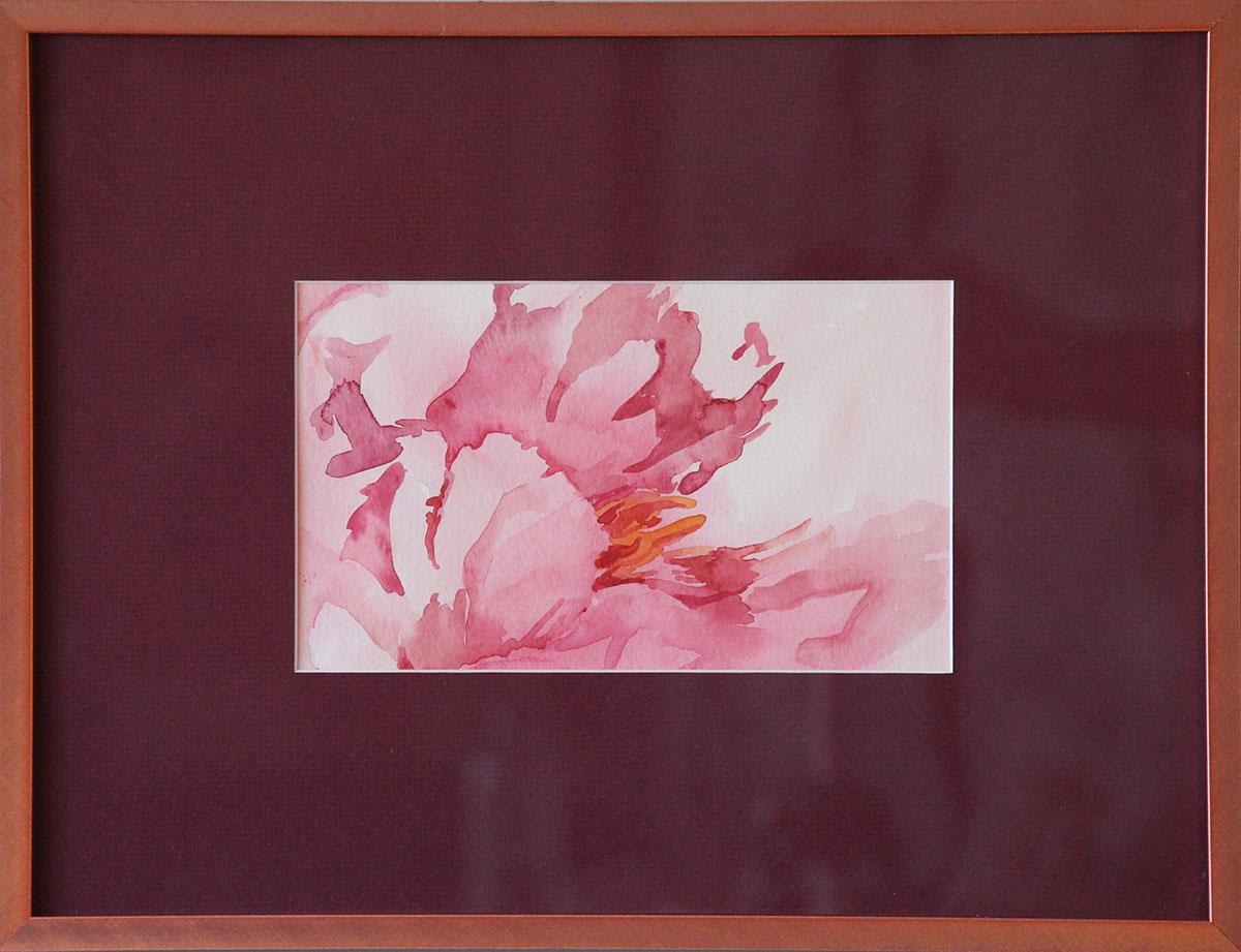 """Magnolia"" Watercolour framed Size: 12""x 16"""