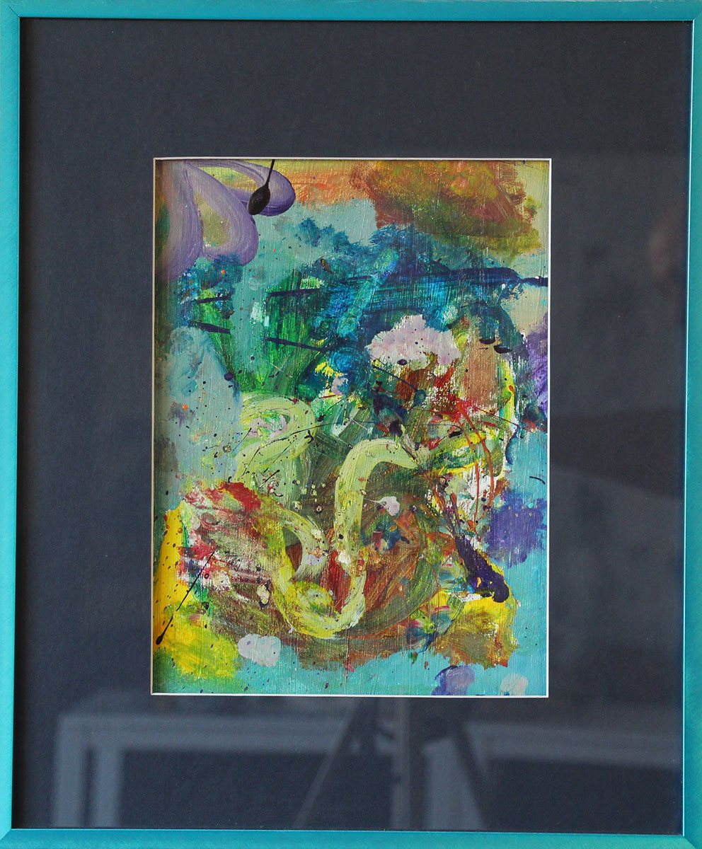 """""""Playful in Blue"""" Size: 18""""x15"""""""
