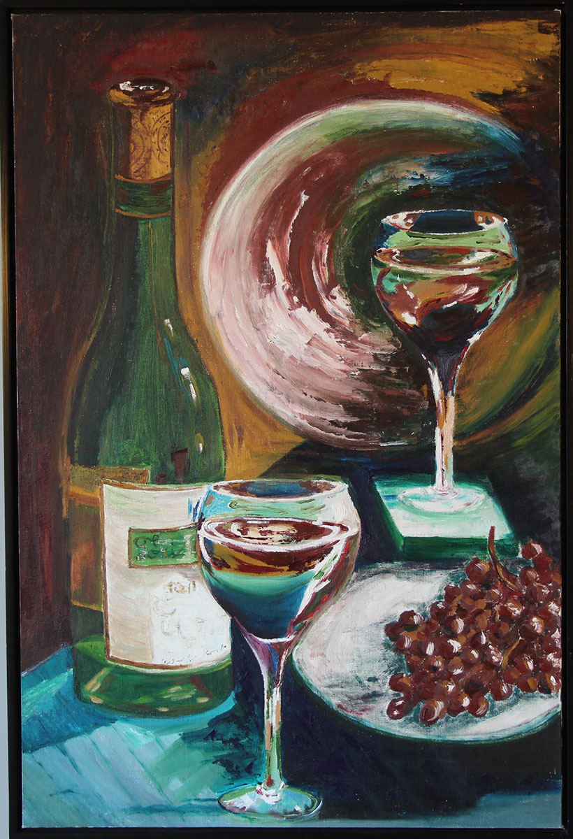 """""""Torino"""" Oil on canvas board framed Size: 25""""x 37"""""""