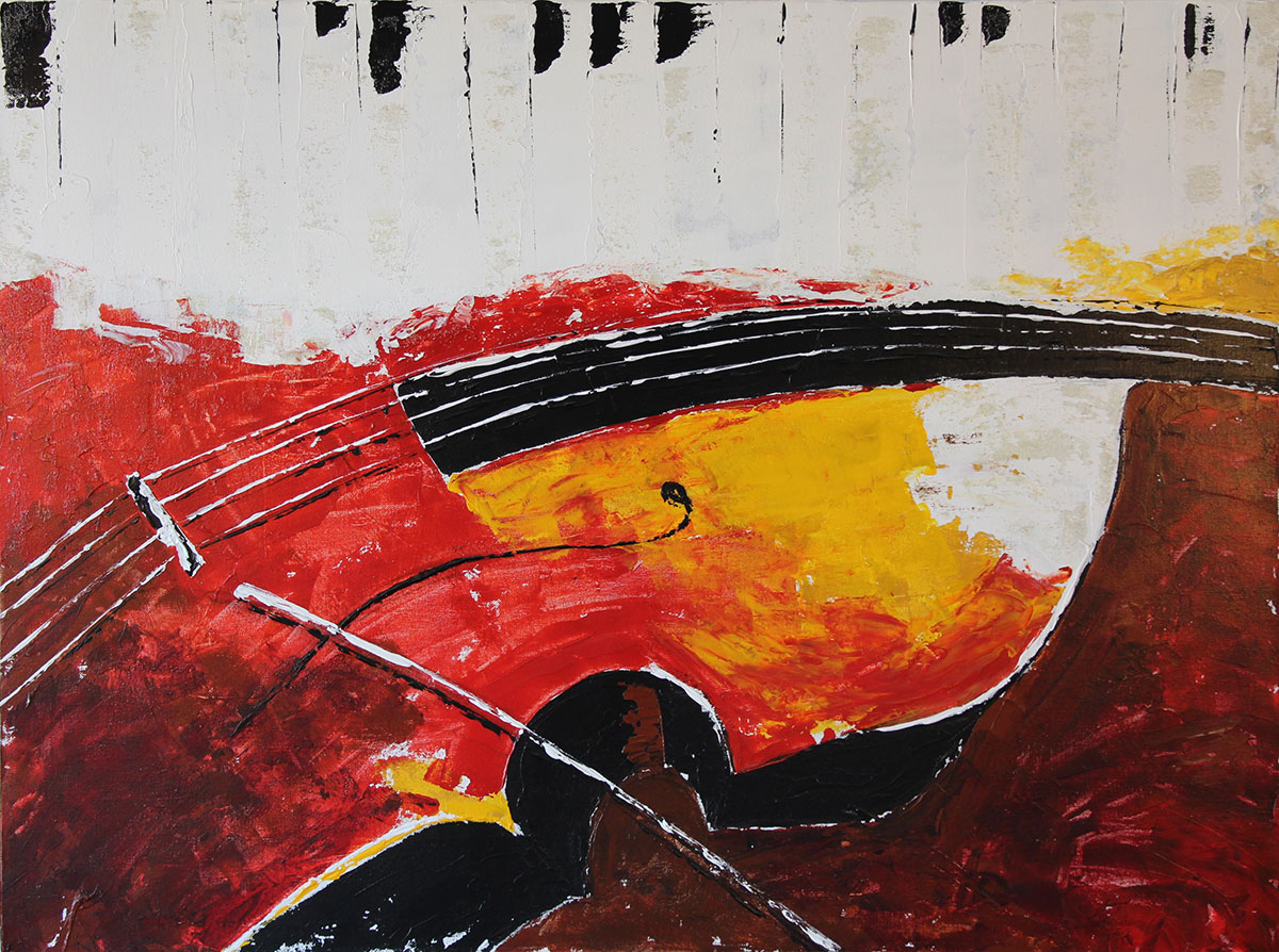 """Violin"" Acrylic on canvas Size: 32""x36"""