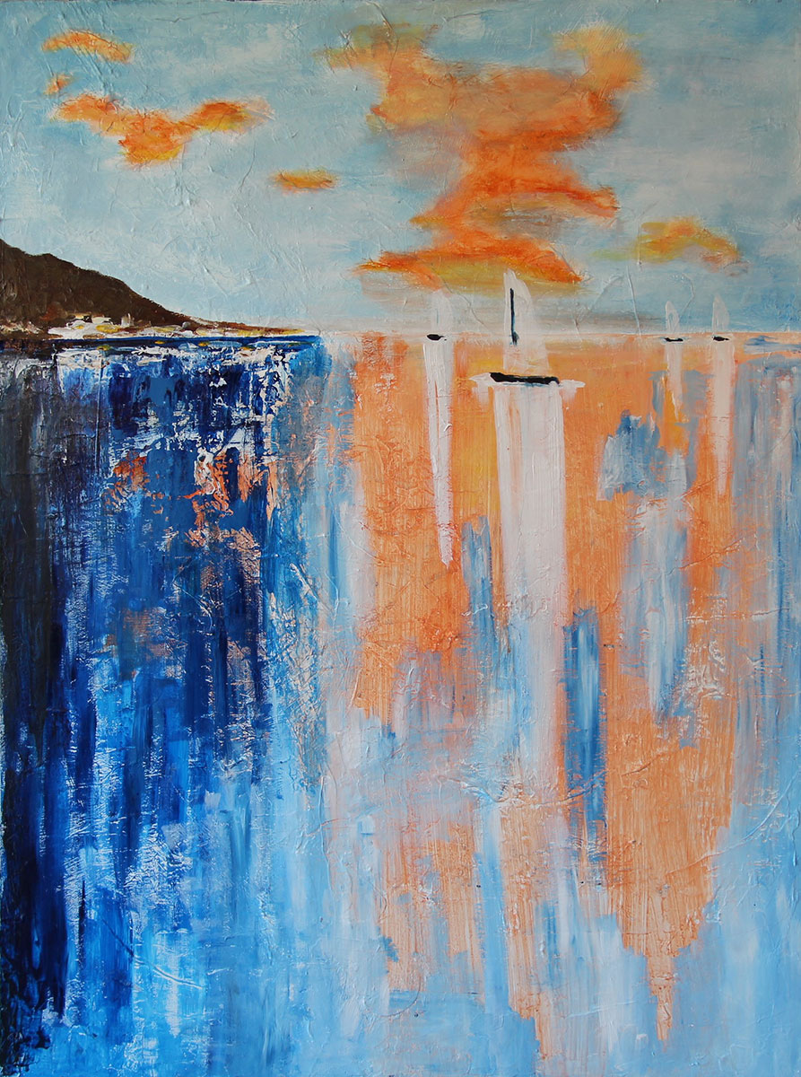 """Sail a Way"" Acrylic on canvas Size: 36""x48"""