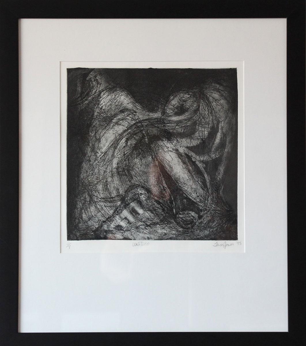 "Untitled Print Intaglio framed Size: 20""x24"""