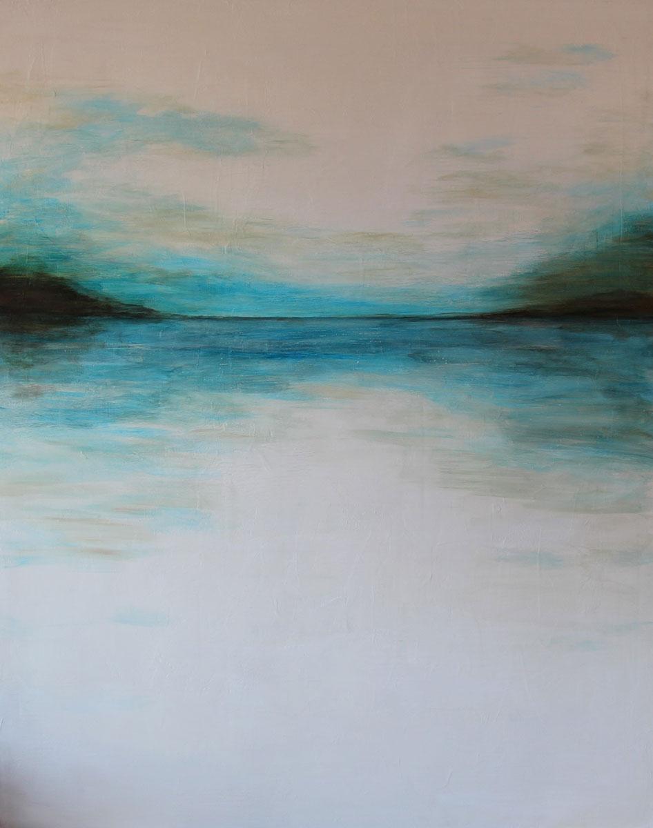 """""""Moonlight"""" Acrylic on canvas Size: 60""""x48"""""""