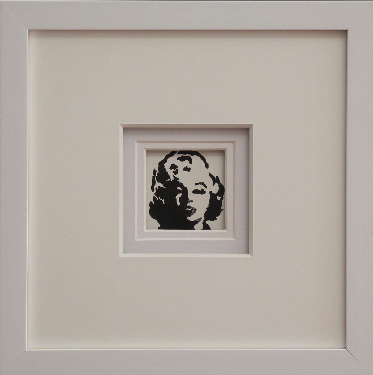 """MM I"" Linocut Framed Size: 11""x11"""