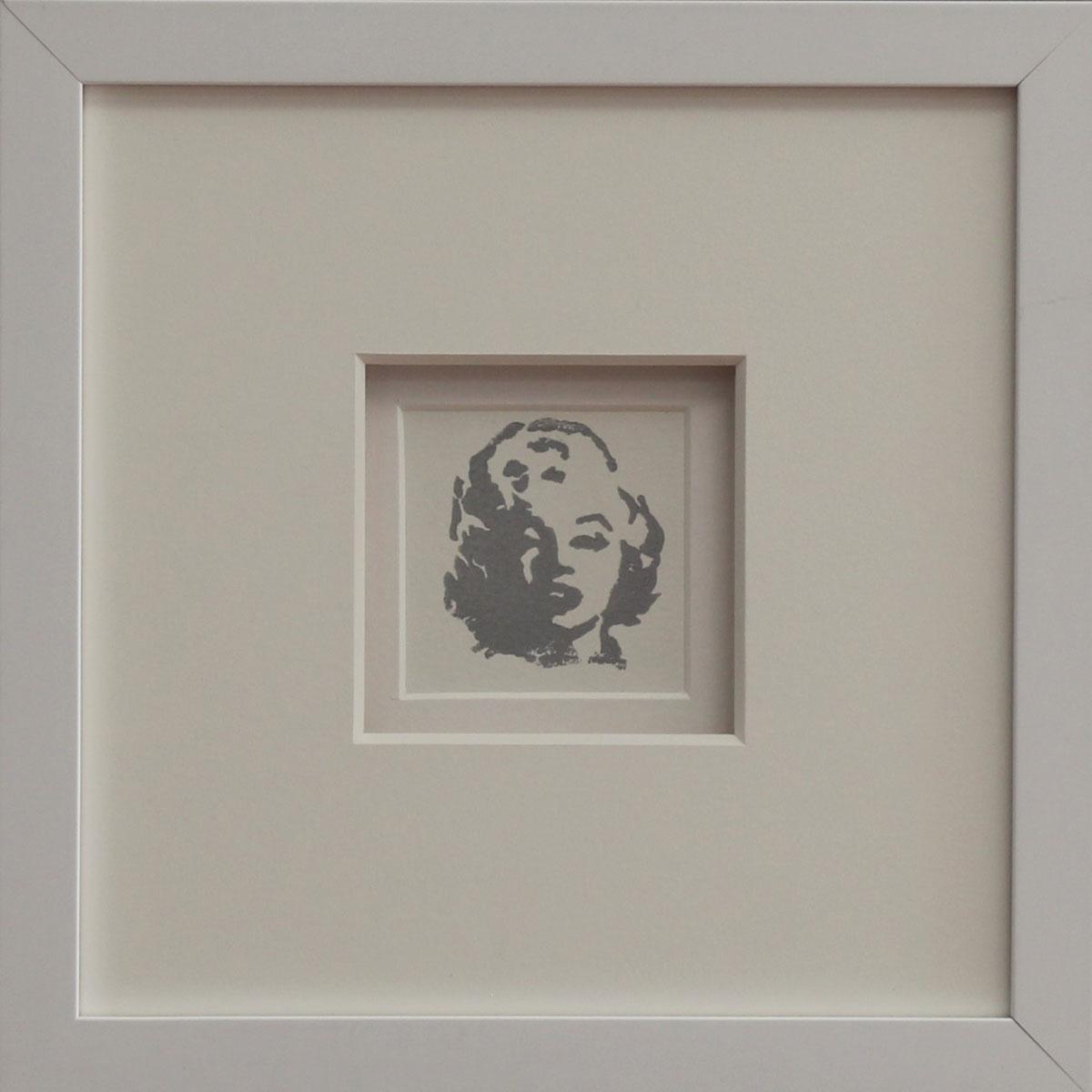"""""""MM II"""" Linocut Framed Size: 11""""x11"""""""