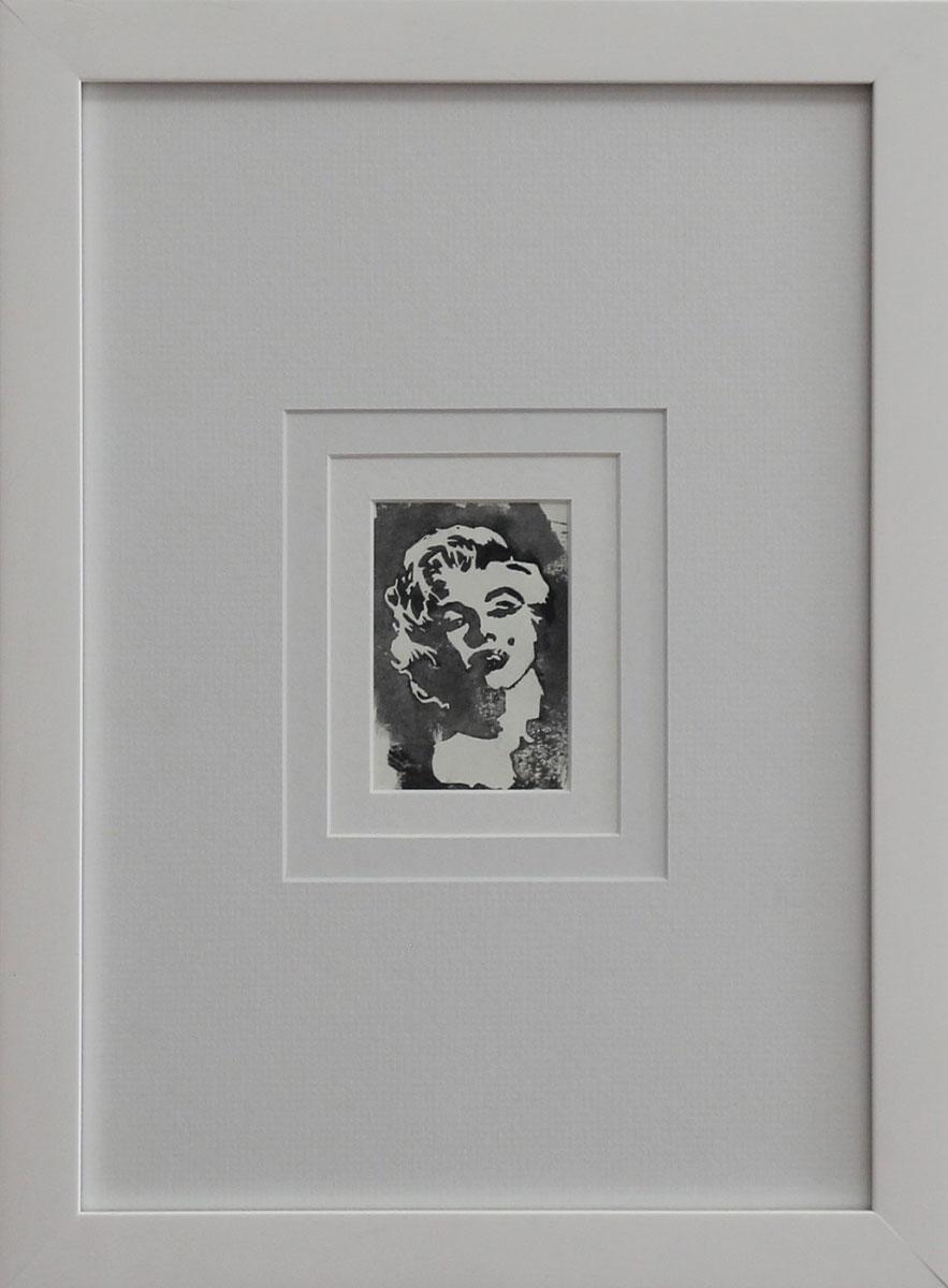 """""""MM III"""" Linocut framed Size: 11""""x14"""""""